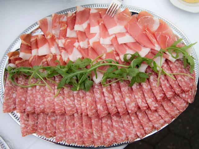 Italienische Wurstplatte