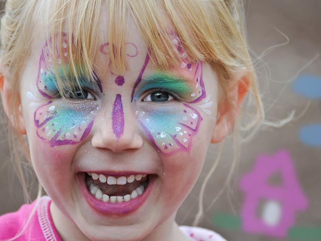 Kinderschminken und Kindergeburtstag